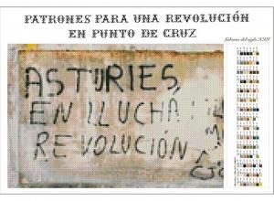Patrones para una revolución en punto de cruz. Asturies en llucha. 2017.