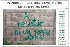 Patrones para una revolución en punto de cruz. A resistir. 2017