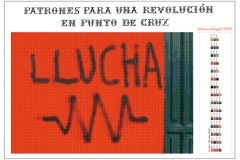 Patrones para una revolución en punto de cruz. Llucha. 2017